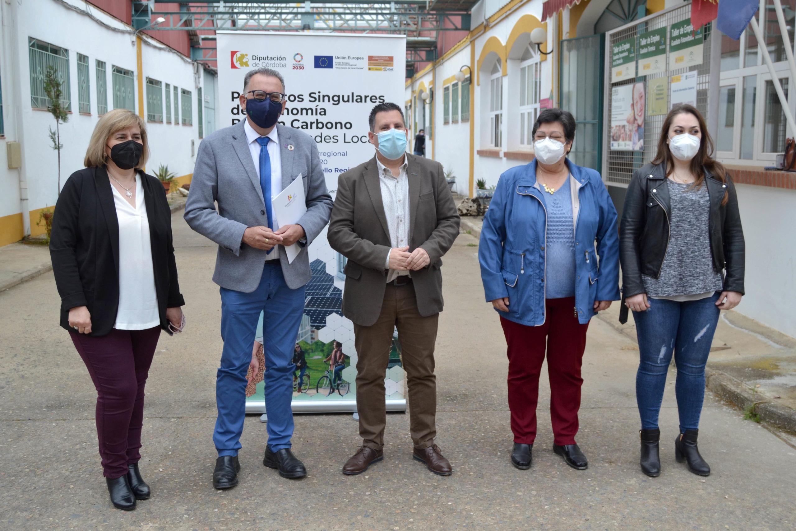 El proyecto Feder de Economía Baja en Carbono de Peñarroya-Pueblonuevo conseguirá un ahorro de más de 18.500 euros anuales