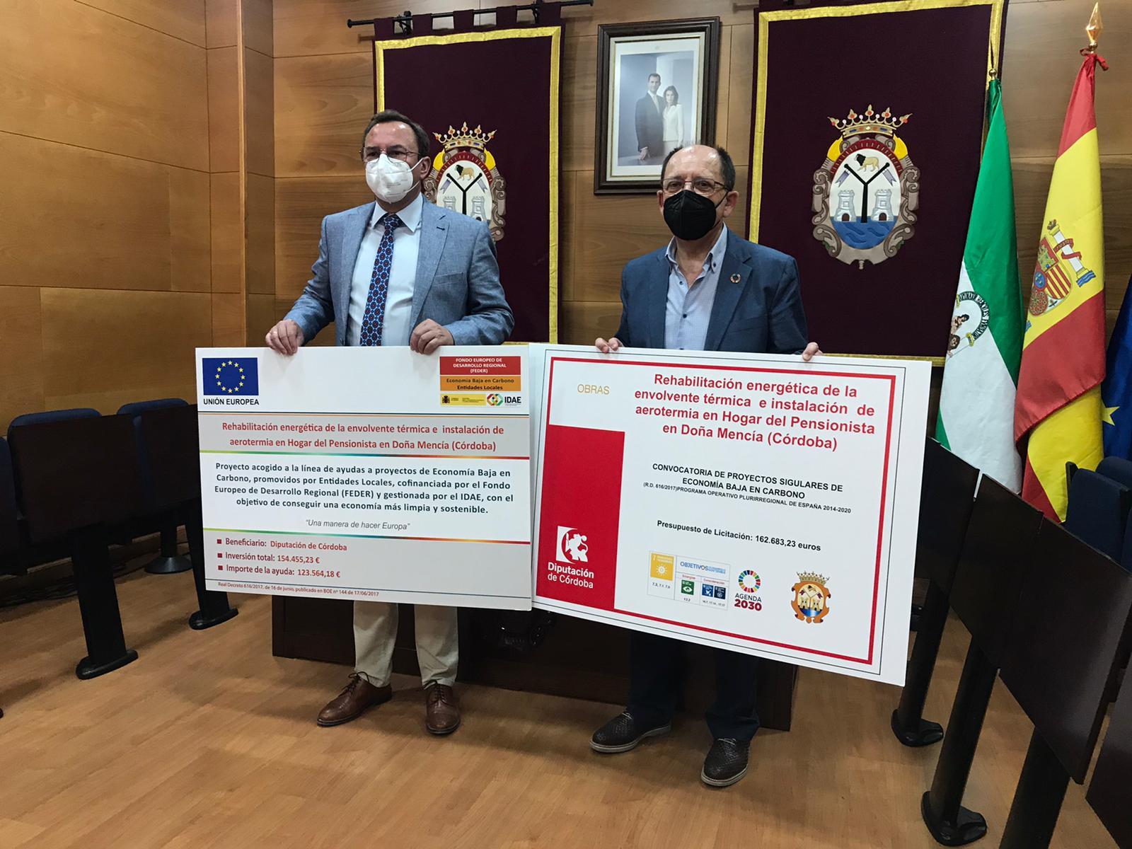 Arranca en Doña Mencía la obra para mejorar la climatización en el Hogar del Pensionista